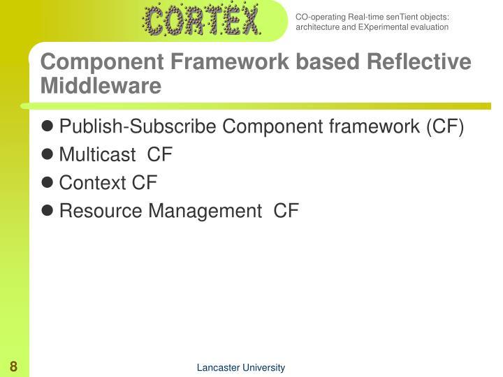 Component Framework based Reflective Middleware