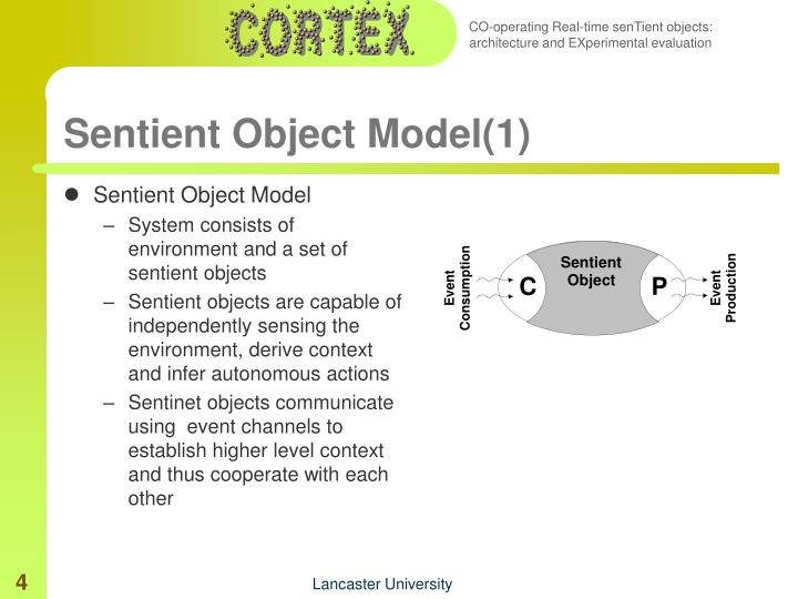 Sentient Object Model(1)