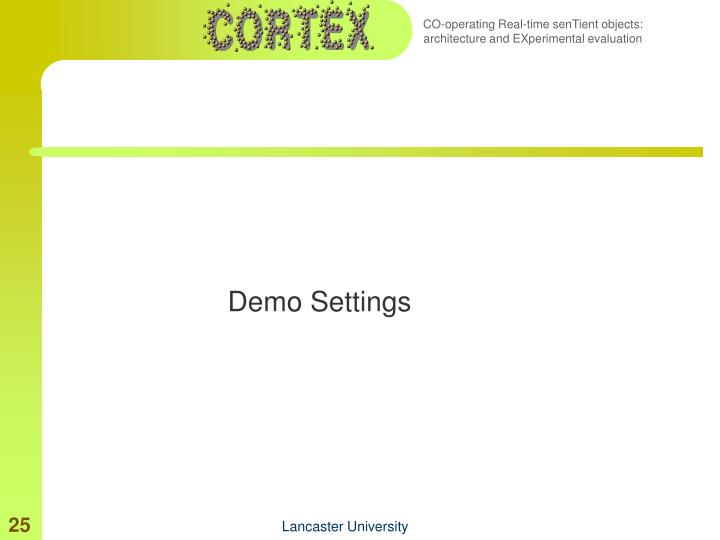 Demo Settings