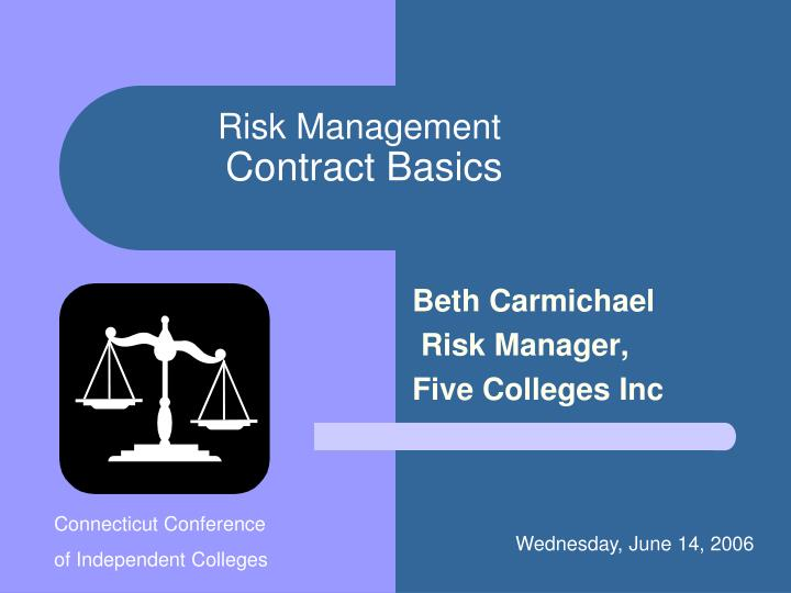 Risk management contract basics
