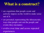 what is a construct
