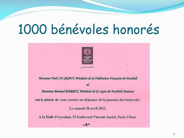 1000 bénévoles honorés