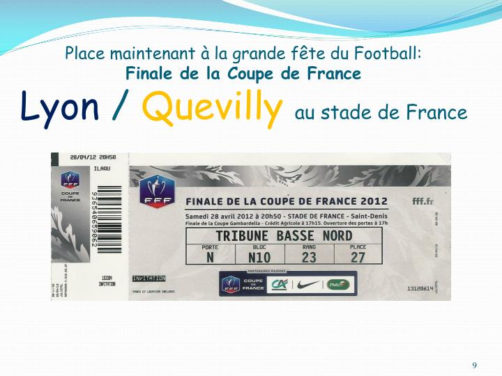 Place maintenant à la grande fête du Football: