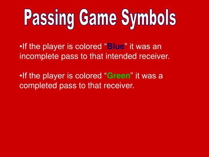 Passing Game Symbols