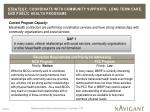 strategy coordinate with community supports long term care and public health programs1