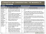 strengths and considerations the masshealth pcc program