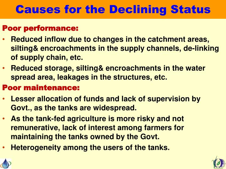 Causes for the Declining Status