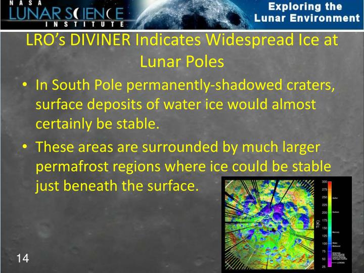 LRO's DIVINER Indicates Widespread Ice at Lunar Poles