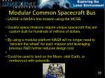 modular common spacecraft bus