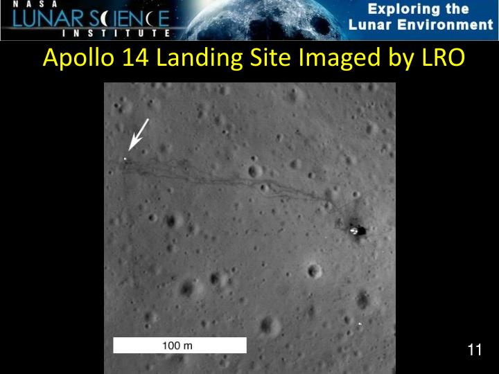 Apollo 14 Landing Site Imaged by LRO