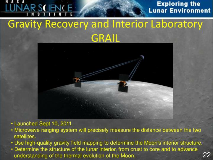 Gravity Recovery and Interior Laboratory