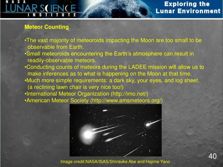 Meteor Counting