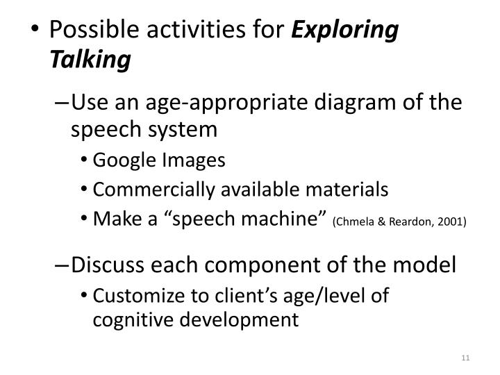 Possible activities for