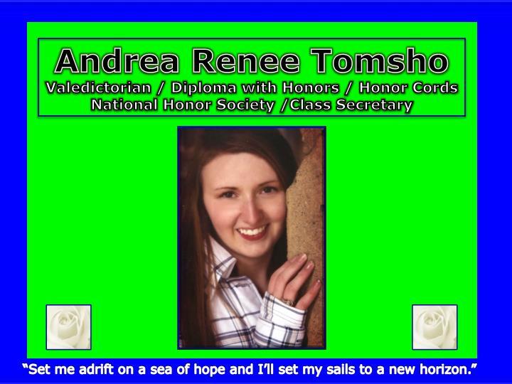 Andrea Renee Tomsho