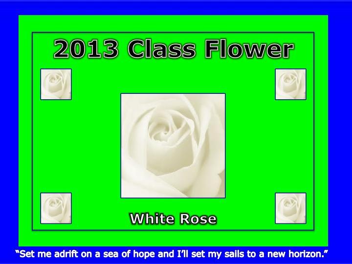 2013 Class Flower