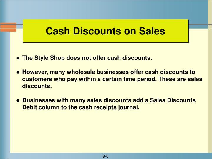Cash Discounts on Sales
