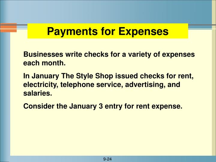 Payments for Expenses