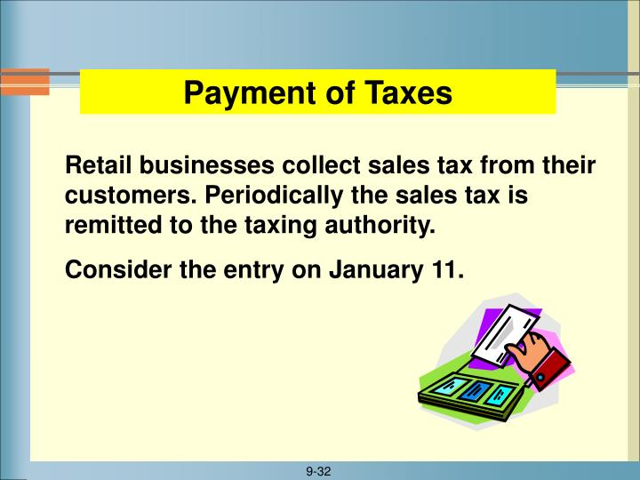 Payment of Taxes