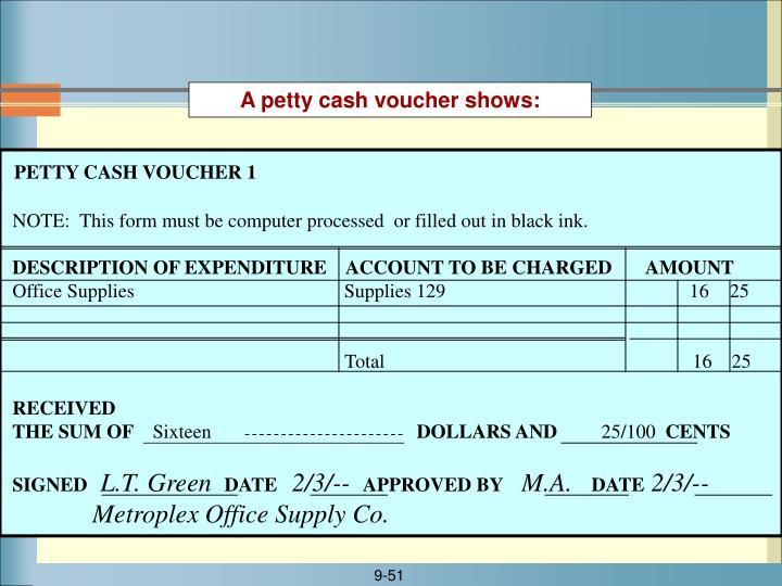 PETTY CASH VOUCHER 1