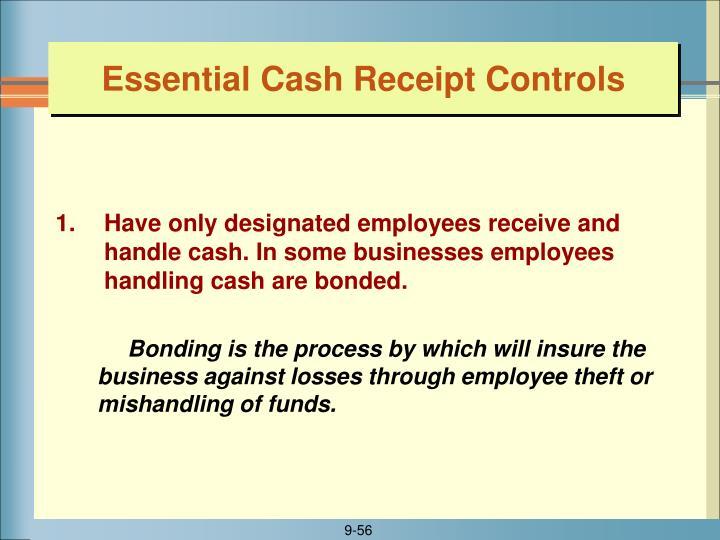 Essential Cash Receipt Controls