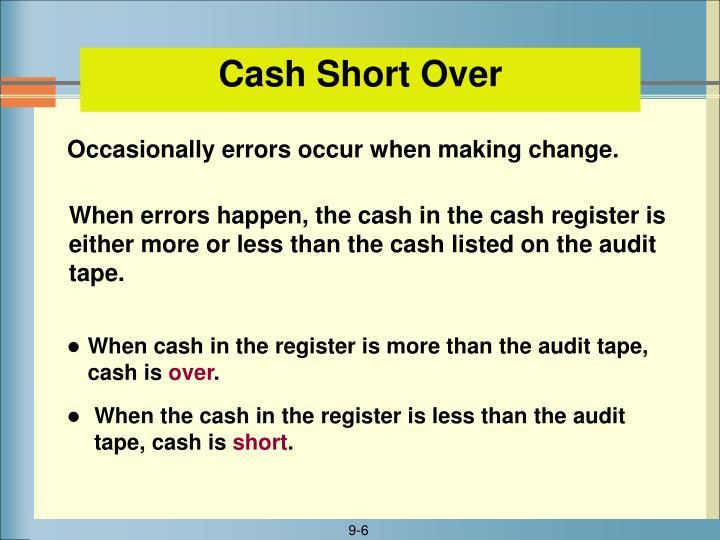 Cash Short Over