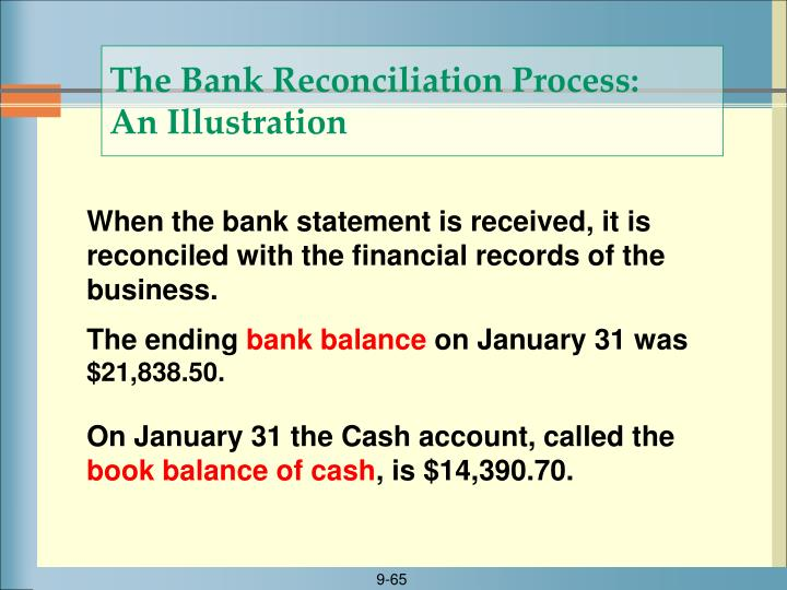 The Bank Reconciliation Process: