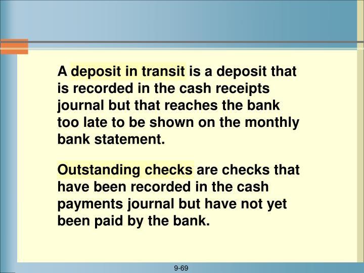 Outstanding checks