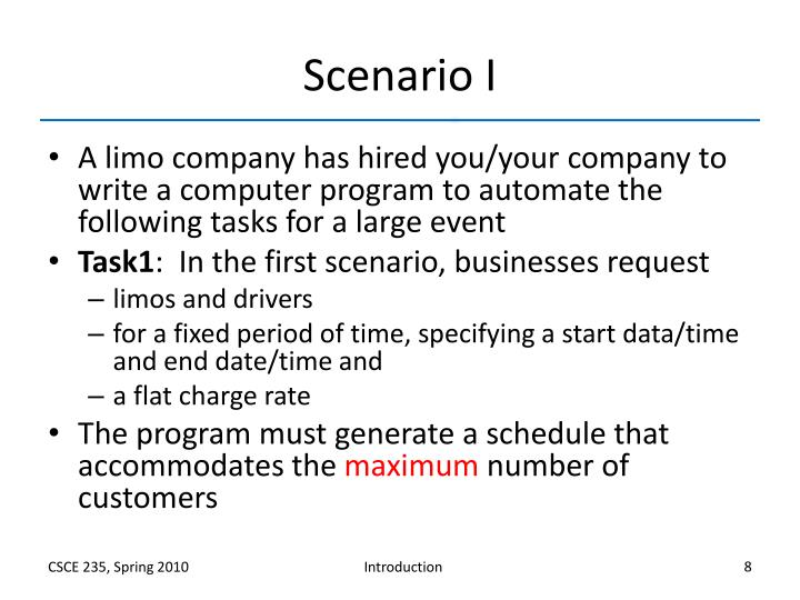 Scenario I