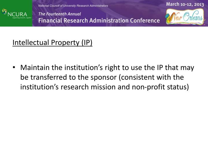 Intellectual Property (IP)
