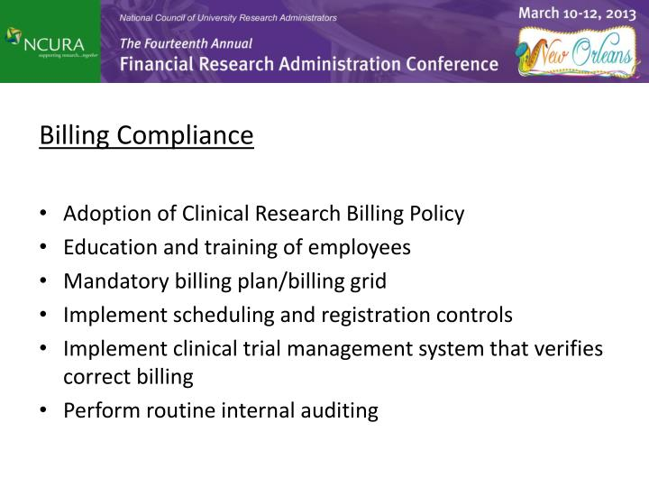 Billing Compliance