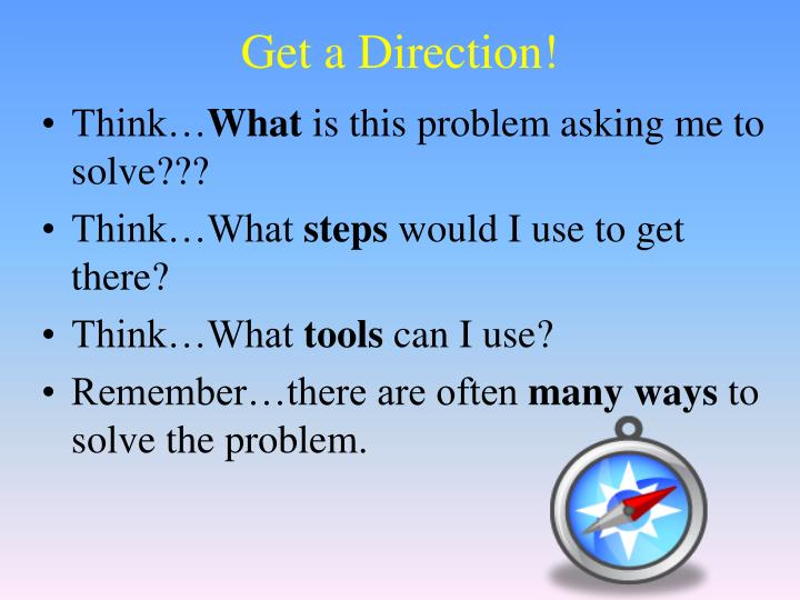 Get a Direction!