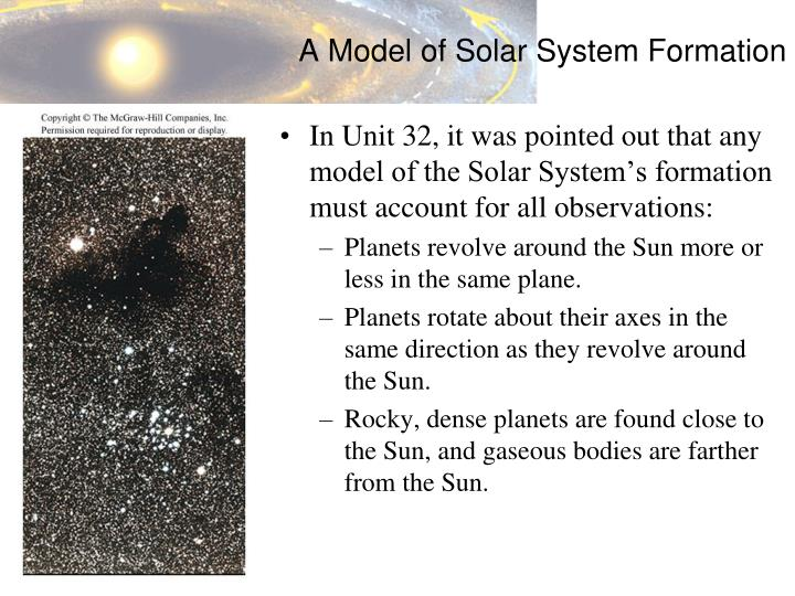 A Model of Solar System Formation