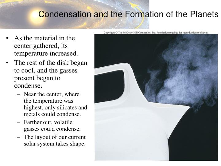 Condensation and the Formation of the Planets