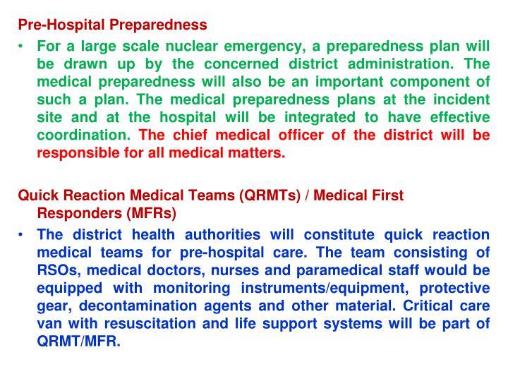Pre-Hospital Preparedness