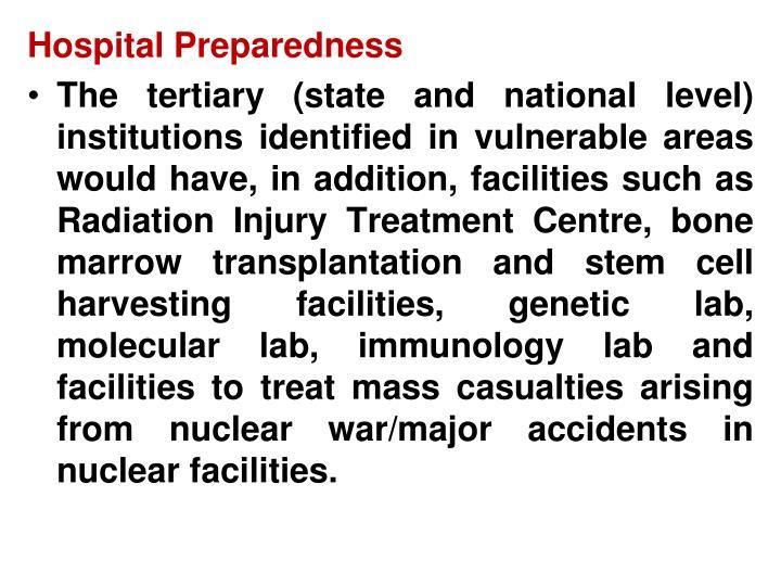 Hospital Preparedness