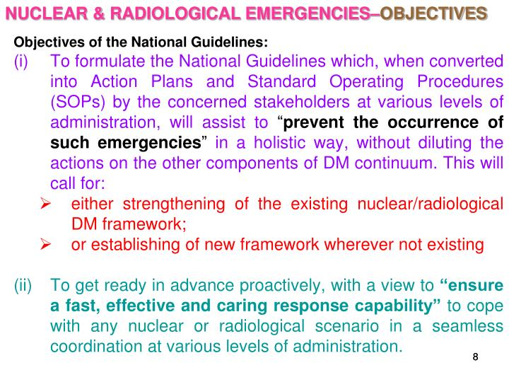 NUCLEAR & RADIOLOGICAL EMERGENCIES–