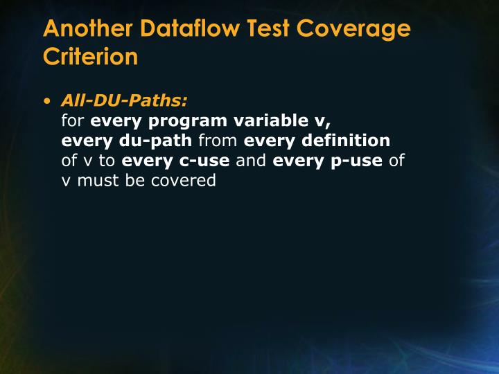 Another Dataflow Test Coverage Criterion