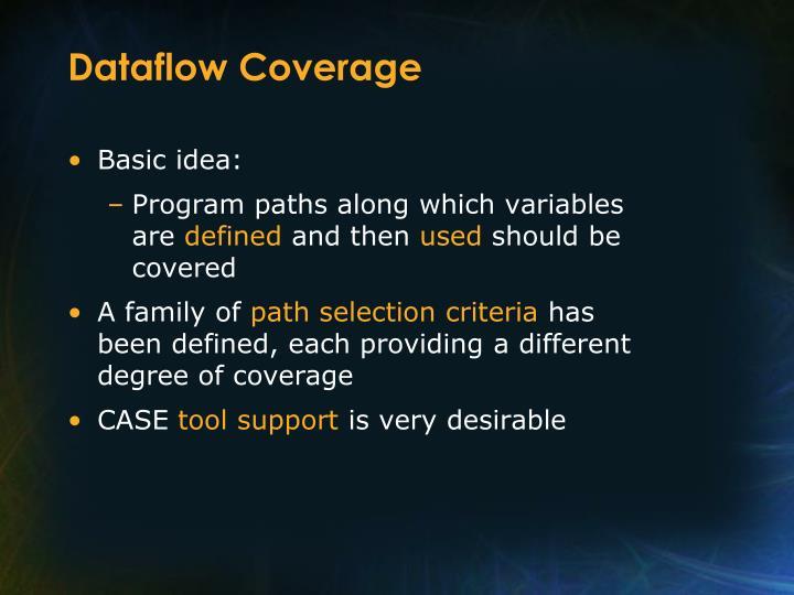 Dataflow Coverage