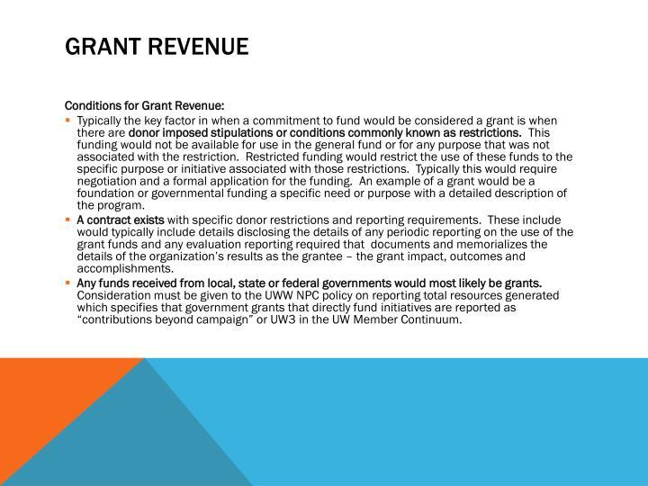 Grant Revenue