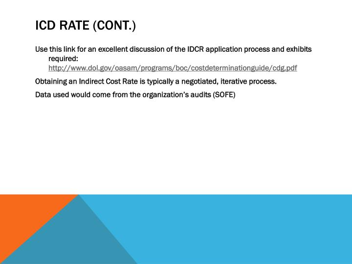 ICD Rate (cont.)