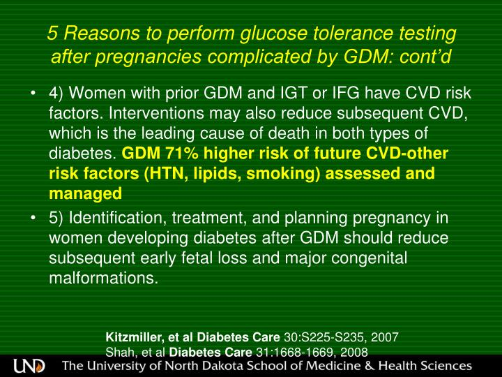 5 Reasons to perform glucose tolerance testing