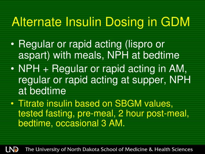 Alternate Insulin Dosing in GDM