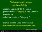 diabetes medications insulins safety