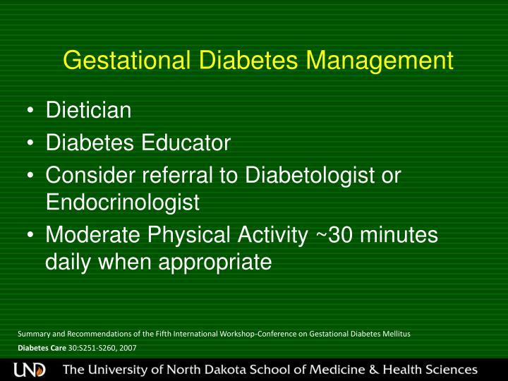 Gestational Diabetes Management