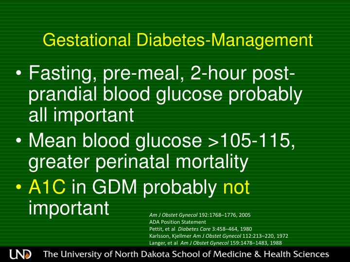 Gestational Diabetes-Management