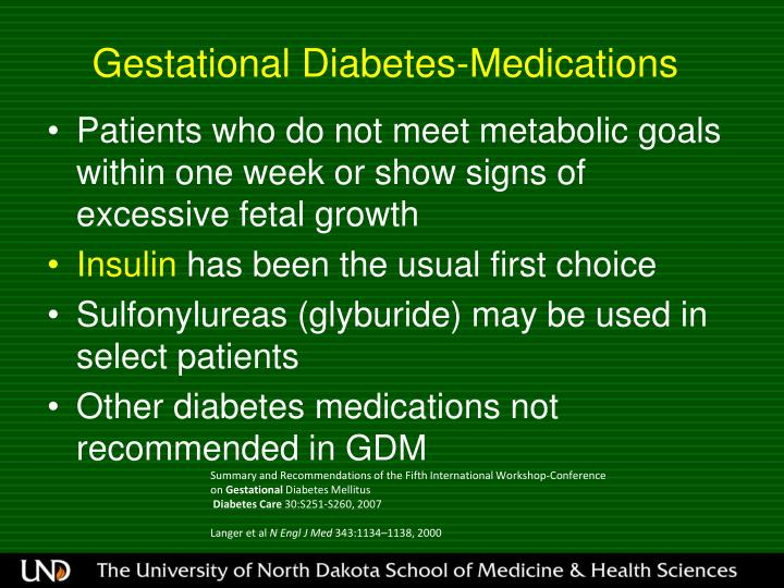 Gestational Diabetes-Medications