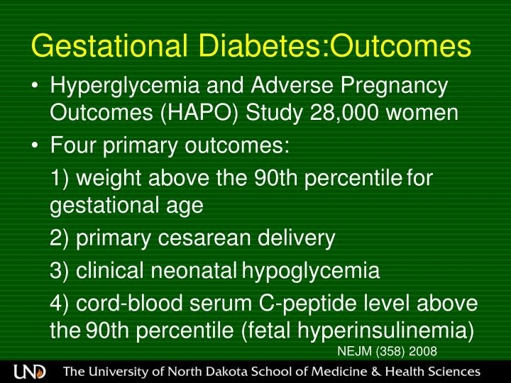 Gestational Diabetes:Outcomes