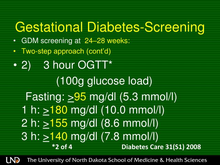 Gestational Diabetes-Screening