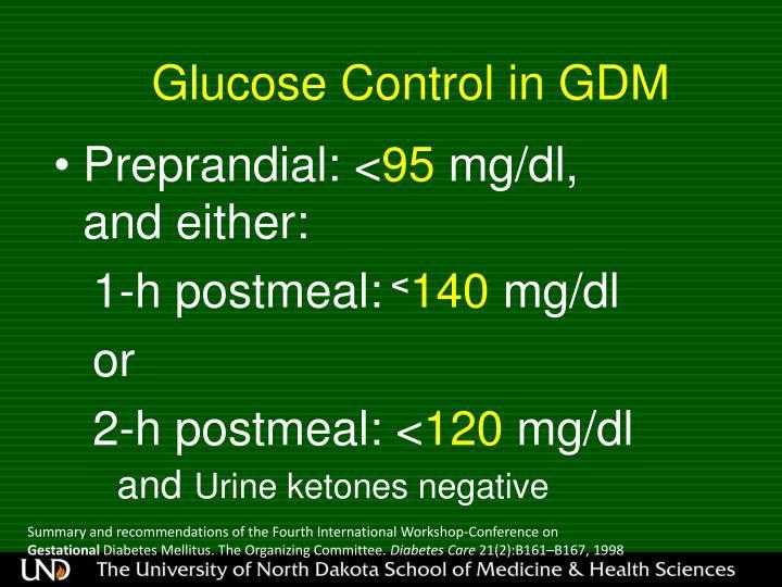 Glucose Control in GDM
