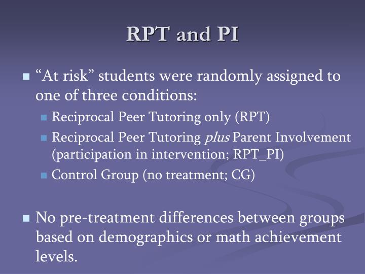 RPT and PI